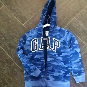 Boys Gap Zip Up Hoodie fleece lined size large
